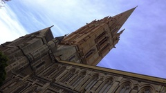 Melbourne, St Paul Cathedral,Tower Stock Footage