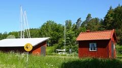 Gota kanal waterway in Sweden Stock Footage