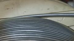 Spool of corrugated tube Stock Footage