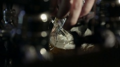 Pouring Pint of Beer. Lager at Bar Stock Footage
