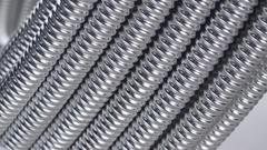 Macro texture metal corrugated tube Stock Footage