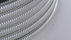 Corrugated tube, closeup Stock Footage