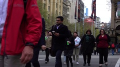 Melbourne, People Walking on the Street Stock Footage