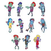 Zombie Fictional Undead Beings Fantastic Character Stock Illustration