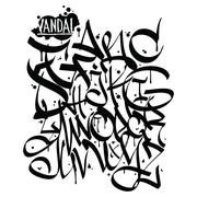 Font graffiti vandal Stock Illustration