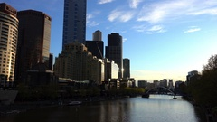 Melbourne, Bridge Across Yarra River Stock Footage