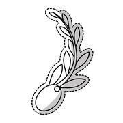 Olive seeds icon Stock Illustration