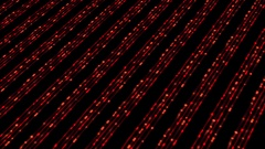 Glowing Red Dots Passing Club Visual Stock Footage