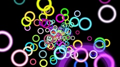Vibrant Colorful Rings Particles Disco Burst VJ Motion Background Loop Stock Footage