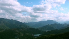 Timelapse of landscape of Jade Reservoir in Taipei. Major reservoirs. Stock Footage