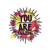 You are amazing. colored spots Stock Illustration