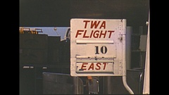 Vintage 16mm film, 1952, boarding TWA Super Constellation aircraft Stock Footage