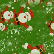 Seamless Christmas Santa Wrapping Paper Stock Illustration