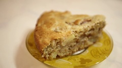 A piece of an apple pie. Stock Footage