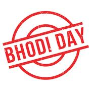 Bhodi Day rubber stamp Stock Illustration