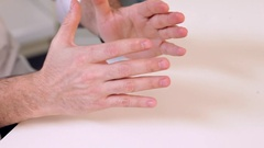 Sign Language in Negotiations Stock Footage