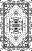 Oriental template for carpet. Piirros