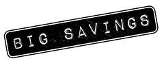 Big Savings rubber stamp Stock Illustration