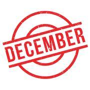 December rubber stamp Stock Illustration