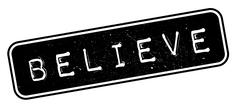 Believe rubber stamp Stock Illustration