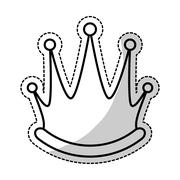 Queen crown icon Stock Illustration