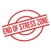 End Of Stress Zone rubber stamp Stock Illustration