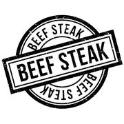 Beef Steak rubber stamp Piirros