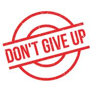 Don't Give Up rubber stamp Stock Illustration