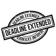 Deadline Extended rubber stamp Stock Illustration