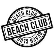 Beach Club rubber stamp Stock Illustration