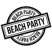 Beach Party rubber stamp Piirros