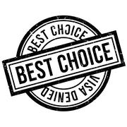 Best Choice rubber stamp Stock Illustration