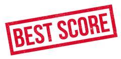 Best Score rubber stamp Stock Illustration