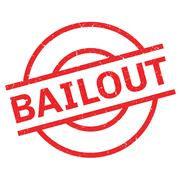 Bailout rubber stamp Stock Illustration