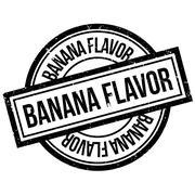 Banana Flavor rubber stamp Stock Illustration