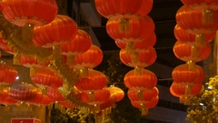 Chinese red lantern on the street of Jerusalem, Israel Stock Footage
