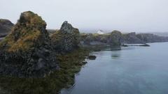 Iceland nature landscape on Arnarstapi Snaefellsnes Stock Footage