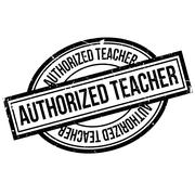 Authorized Teacher rubber stamp Stock Illustration
