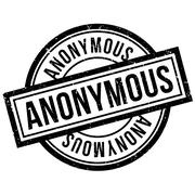 Anonymous rubber stamp Stock Illustration