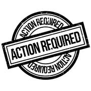 Action Required rubber stamp Stock Illustration