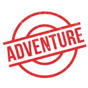 Adventure rubber stamp Stock Illustration