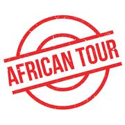 African Tour rubber stamp Stock Illustration