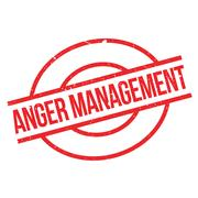 Anger Management rubber stamp Stock Illustration