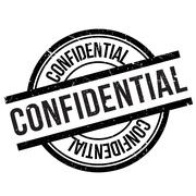 Confidential stamp Stock Illustration