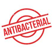 Antibacterial rubber stamp Stock Illustration