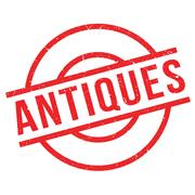 Antiques rubber stamp Stock Illustration