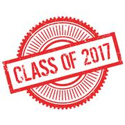 Class of 2017 stamp Stock Illustration