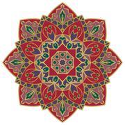 Rich oriental mandala. Stock Illustration