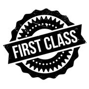 First class stamp Stock Illustration