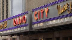 Radio City Hall Marquee Stock Footage